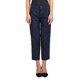Miu Miu Women's Cotton Slim Fit Chino Pants Navy