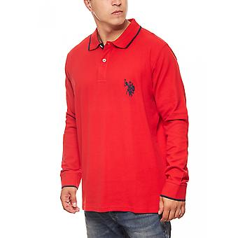 U.S. POLO ASSN. Polo long sleeve shirt mens Red