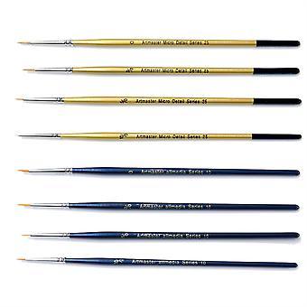Artmaster Fine Detail Paint Brush Set of 8