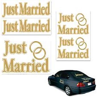 ちょうど結婚されていた車のステッカー