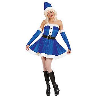 Miss Santa kostym - blå