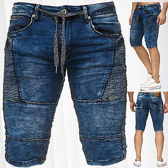 Men's Sweat Denim Shorts Stretch Jeans Bermuda Biker Used Washed JoggJeans