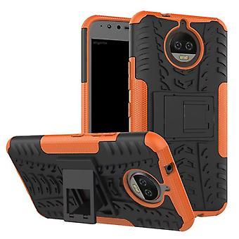 Hybrid fall 2 bit SWL utomhus Orange för Motorola Moto G5S väska fallet täcker