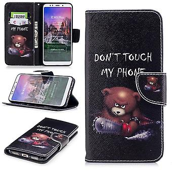 For Samsung Galaxy A6 A600 2018 synthetic leather pocket book motif 30 protection sleeve case cover pouch new