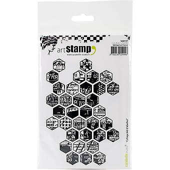 Carabelle Studio Cling Stamp A6-Honeycomb Collage
