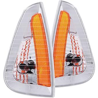 Anzo USA 521034 Dodge Charger Euro Amber Corner Light Assembly - (Sold in Pairs)