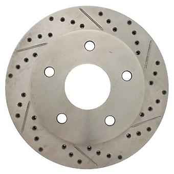 StopTech 227.67050L Select Sport Drilled and Slotted Brake Rotor; Front Left