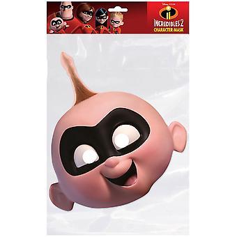 Jack-Jack Parr Incredibles 2 Single 2D Card Party Face Mask