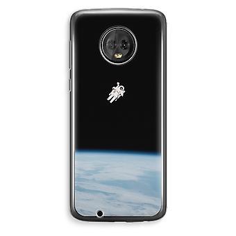 Motorola Moto G6 Plus Transparent Case (Soft) - Alone in Space