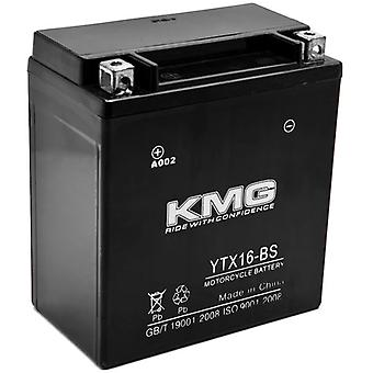 KMG YTX16-BS Battery For Kawasaki VN1500-D, E, N Vulcan Classic 1996-2009 Sealed Maintenace Free 12V Battery High Performance SMF OEM Replacement Powersport Motorcycle ATV Snowmobile Watercraft