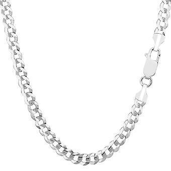14 k Weißgold Komfort Kandare Kette Halskette, 4,7 mm