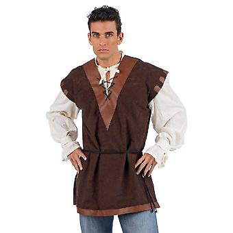 Shirt with waistcoat apron middle ages middle ages host vest Mr costume costume men