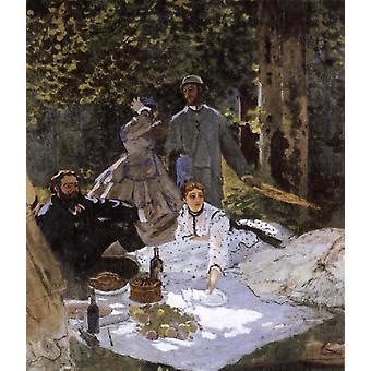 Le Dejeuner Sur l ' herbe in-Claude Monet, 40x60cm mit Tablett