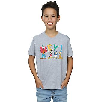 Disney Boys Mickey Mouse Friends Hey T-Shirt