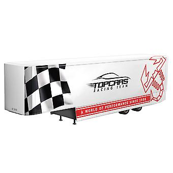 Italeri plastique modèle blanc Racing remorque