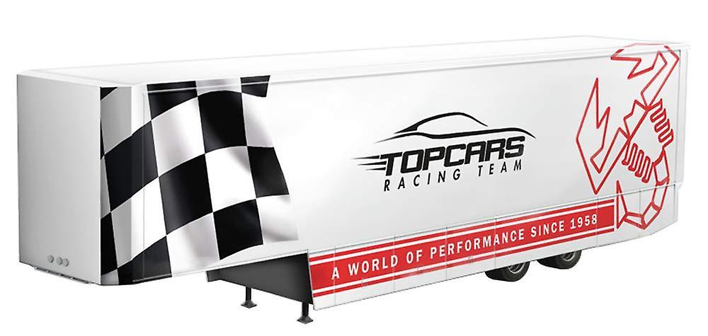 Italeri Plastic Model blanc Racing Trailer