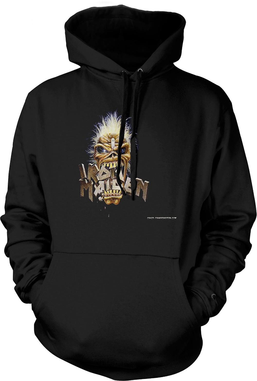 Mens Hoodie - Iron Maiden - Eddie Eating Words