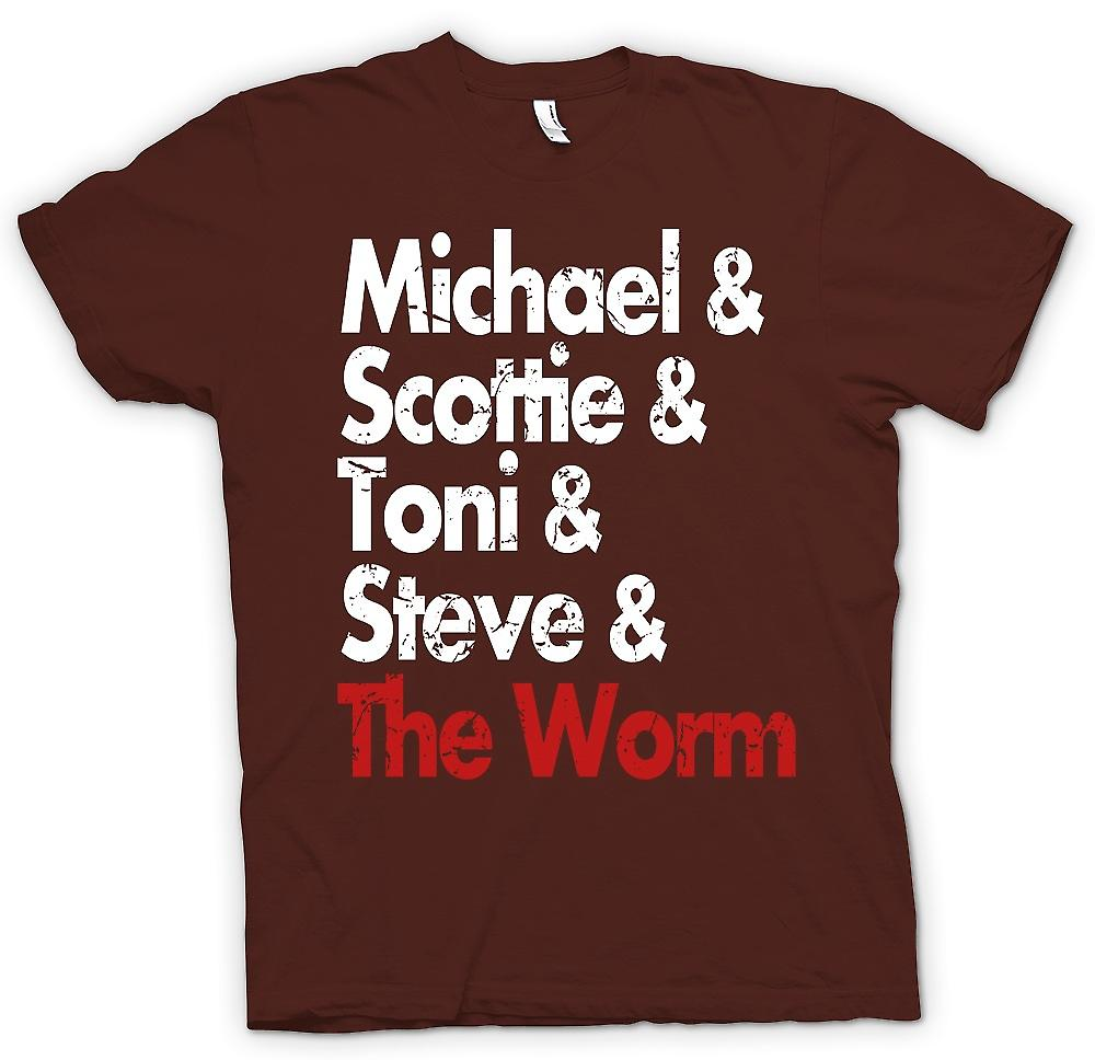 Mens T-shirt - Michael Scottie Tonie Steve And The Worm