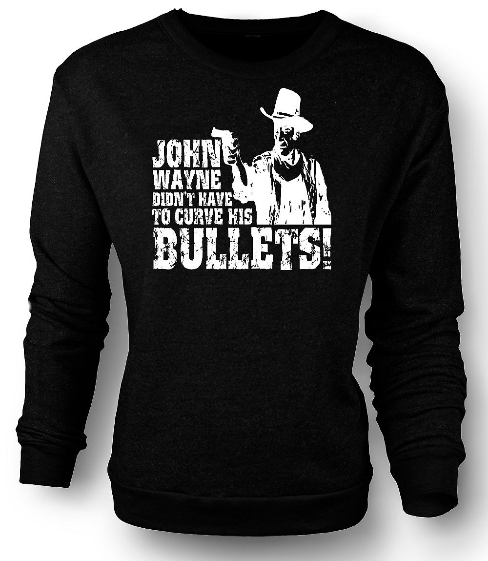 Mens Sweatshirt John Wayne Curved - Cowboy