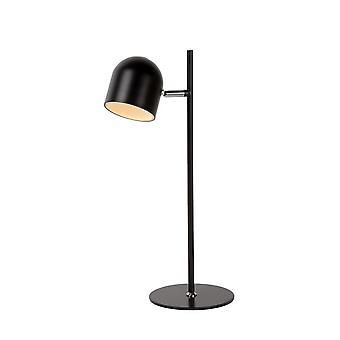 Lucide Skanska moderne ronde metalen zwarte bureaulamp