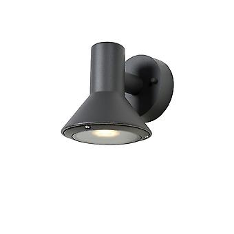 Lucide Nando-LED moderne ronde aluminium antraciet Wall Light