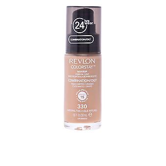 Revlon Colorstay Combination Oily Skin 330 Natural Tan 30ml Womens New