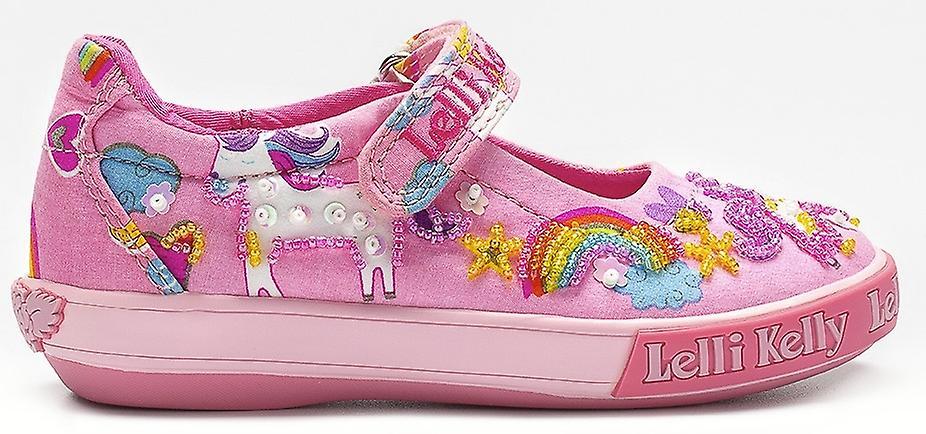 Lelli Kelly filles licorne LK9050 chaussures en toile rose