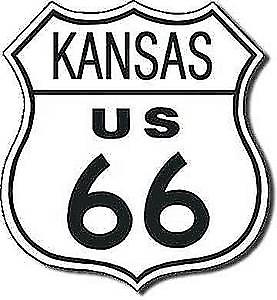 Route 66 Kansas shield metal sign