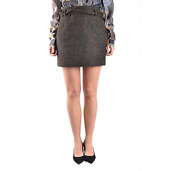 Falda de lana gris de Peuterey