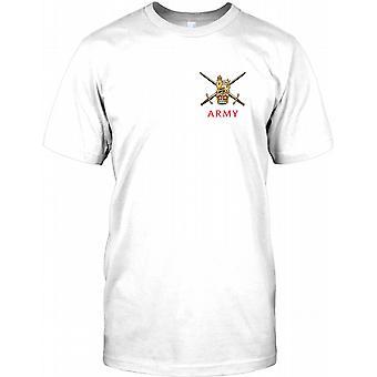 Britische Armee gekreuzte Schwerter - Brust-Logo Kinder T Shirt