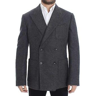 Dolce & Gabbana Gray Wool Double Breasted Blazer -- SIG1500741