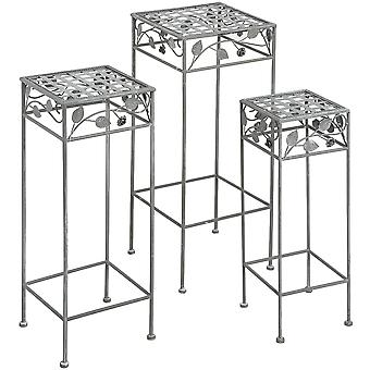 Hill Interiors Square Outdoor Tables (Set Of 3)