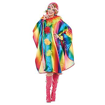 Rainbow Cape ladies costume Cape sleeve poncho
