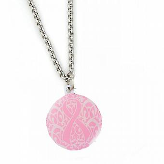 Fashion Alert Medical ID Breast Cancer Awareness Ribbon Pink Pendant- 20