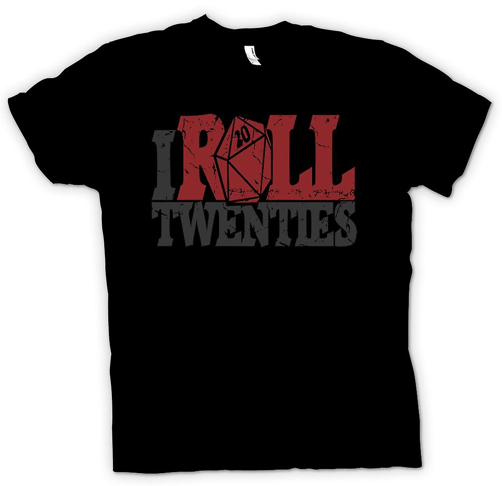 Kids T-shirt - I Roll Twenties - Dungeons And Dragons