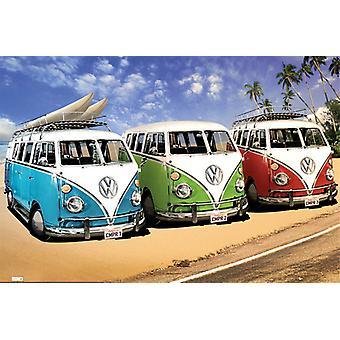 VW Camper Campers strand Maxi Poster 61x91.5cm