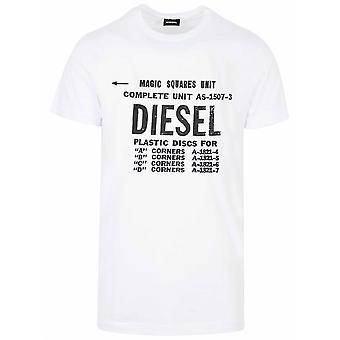 Diesel Diesel hvit ny Diego logo T-skjorte