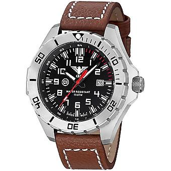KHS Landleader Steel with leather strap buffalo leather brown - KHS. Lans. LB5