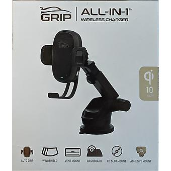 Verizon Grip All-in-1 Wireless Charging Car Mount for Qi enabled phones (10 watt)