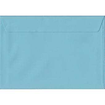 Pastel Blue Peel/Seal C6/A6 Coloured Blue Envelopes. 100gsm FSC Sustainable Paper. 114mm x 162mm. Wallet Style Envelope.