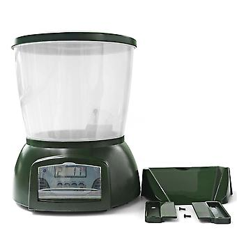 Automatic pond fish feeder fish food dispenser digital aquarium timer feeder with lcd
