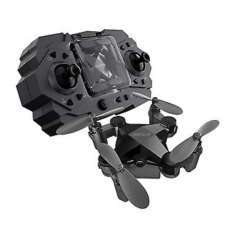 Folding mini drone four axis aerial photography aircraft toy black fixed height