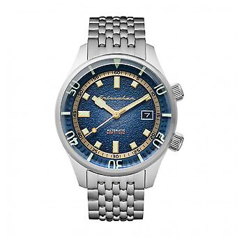 Spinnaker Watch SP-5062-22 - BRADNER Automatic with date round stainless steel case Blue dial Strap in stainless steel