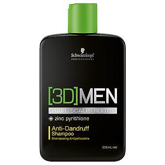 Schwarzkopf 3D menn anti-flass shampoo 250ml