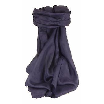 Mens Mulberry Silk Hand Dyed Square Scarf Dark Blue from Pashmina & Silk