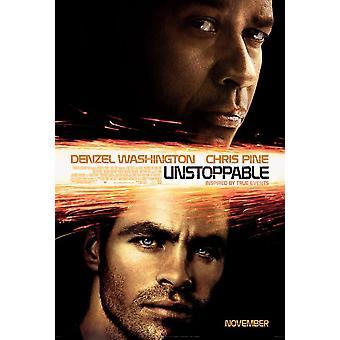 Unstoppable Poster (Chris Pine, Denzel Washington) Double Sided Regular (2010) Original Cinema Poster
