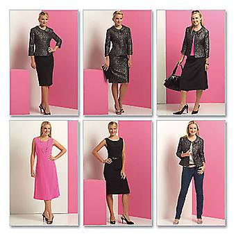 Misses' Misses' Petite Jacket, Top, Dress And Skirt  Bb 8  10  12  14 Pattern B5147  Bb0