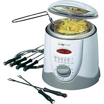 Fondue deep fryer 900 W with manual temperature settings Clatronic FFR 2916 White, Grey