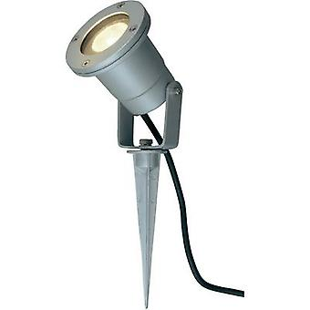 Outdoor floodlight LED, Energy-saving bulb, HV halogen 35 W GU10 SLV Nautilus Spike Silver-grey