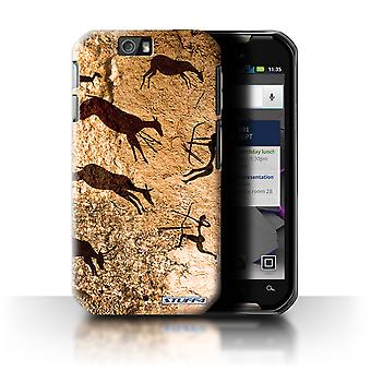 STUFF4 Case/Cover for Motorola IronRock/XT626/Hunters/Brown/Cave Painting